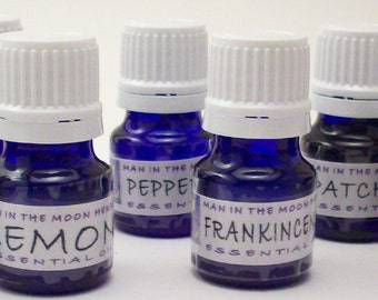 Essential Oils Aromatherapy Kit - 8 Therapeutic Grade Oils - Lavender Rosemary Lemon Peppermint Patchouli Tea Tree Frankincense Geranium