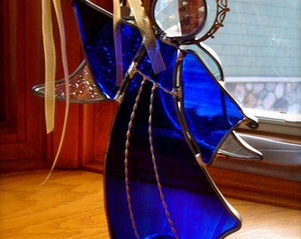 Light the Stars Stained Glass Angel- Pick your color