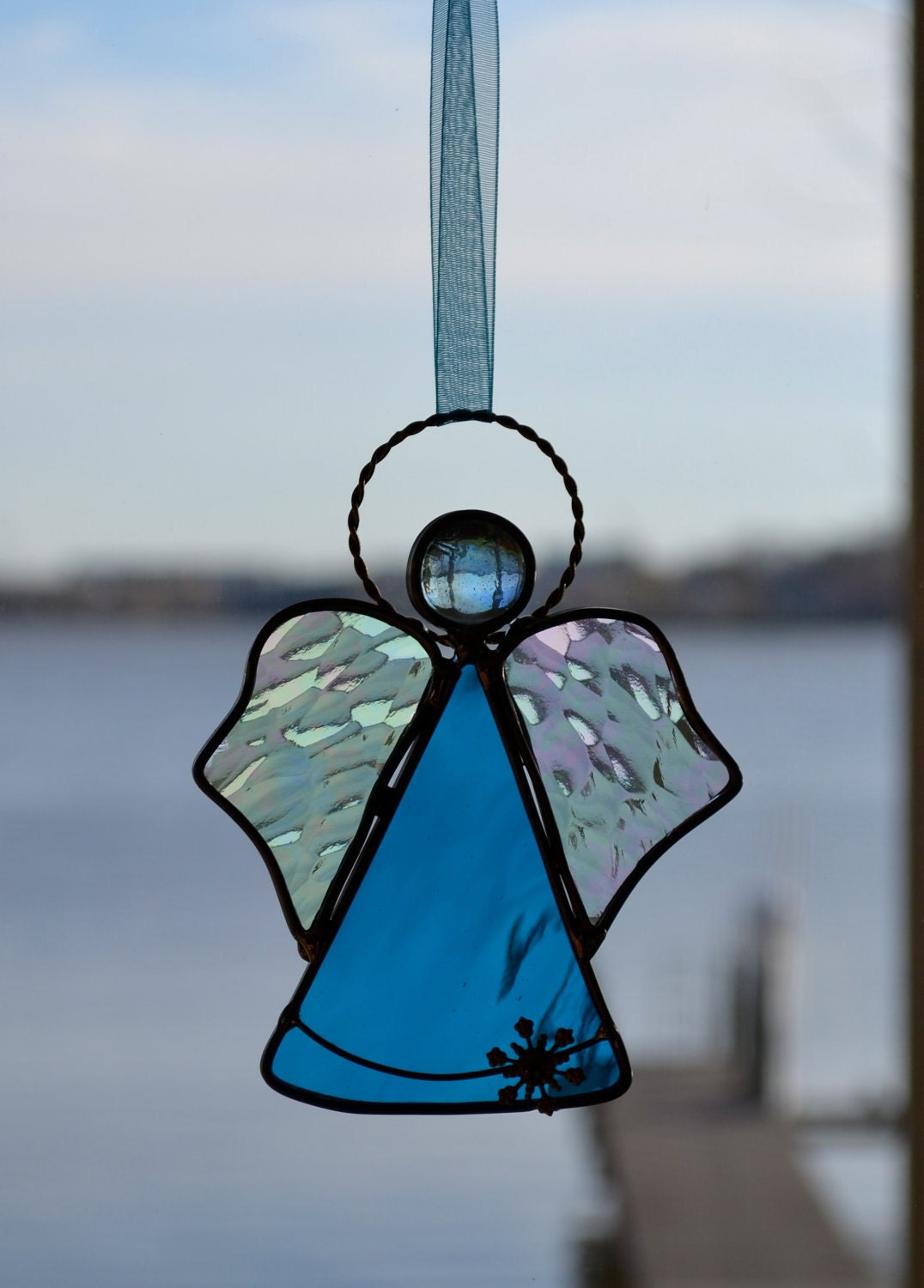 Snow Angel Stained Glass Suncatcher By Dortdesigns On Etsy