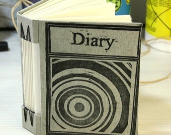 Journal hand printed Title Diary