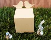 Wedding Favor Boxes Love Birds Set of 25