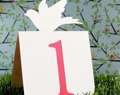 Dove Table Numbers Set of 1 to 25 Wedding