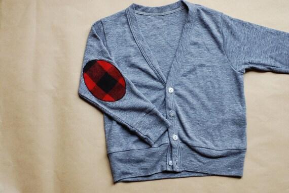 elbow patch cardigan