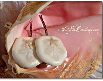 Sand Dollar & Starfish Hair Clips - Beach Wedding Accessories