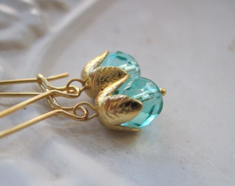 Summer Breeze - Cool Turquoise Glass Earrings