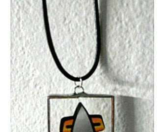 Star Trek Sci Fi Trekkie Glass Pendant Christmas Ornament Birthday Fathers Day Yule Communicator Starfleet