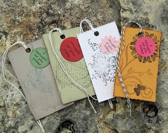 Girlish Gift Tags - Set of 4 - I thought of you today