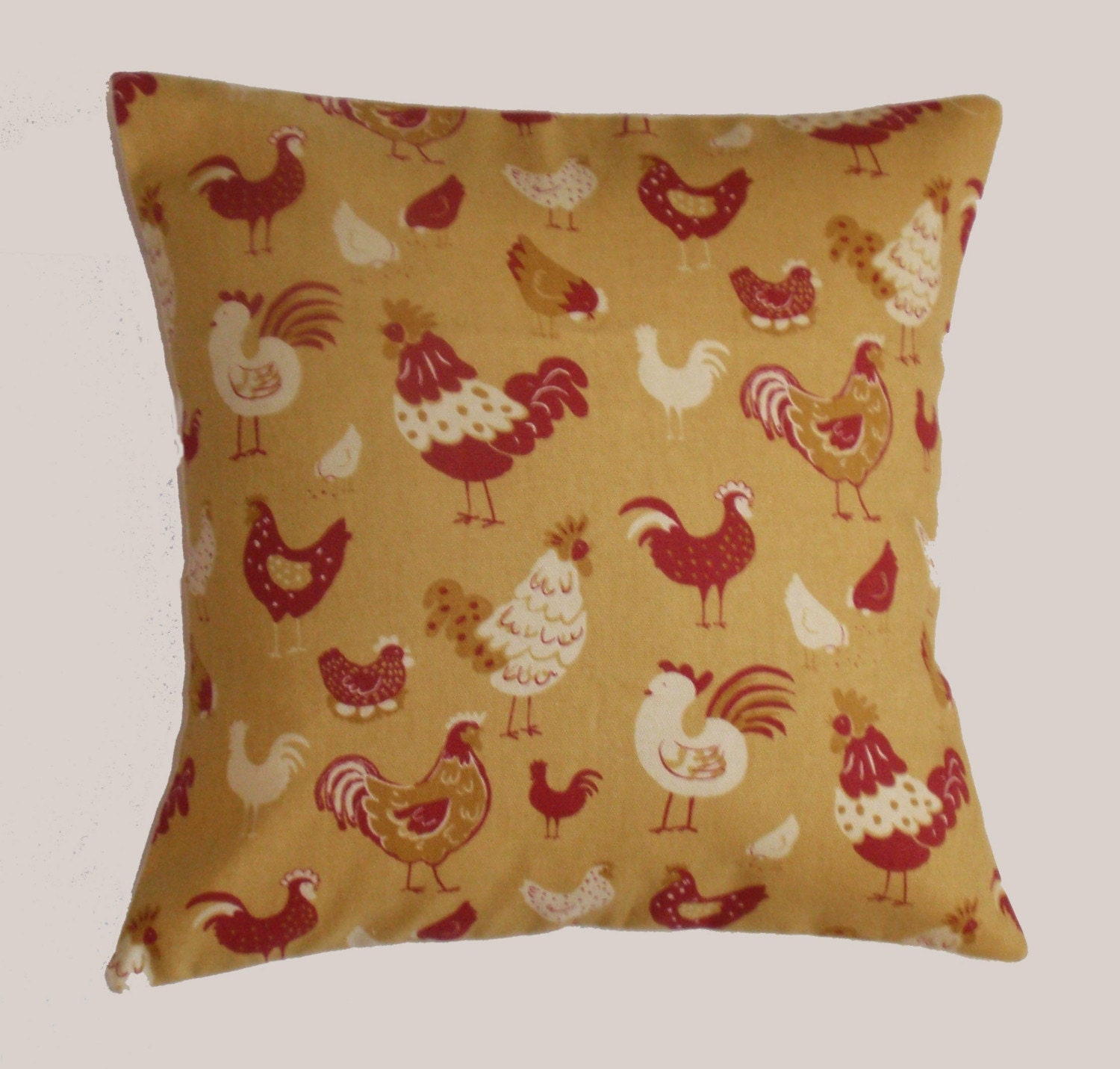 Decorative Pillows With Chickens : Throw Pillow Cover Whimsical Chickens Pillow Cover