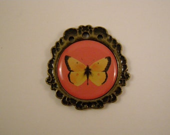 butterfly no. 2 metal charm or pendant