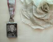 Art Jewelry, Meditation Necklace With A Heart, Wearable Art, Buddha Charm, Buddhist Jewelry, Photography Pendant, Photo Jewelry,Zen Necklace