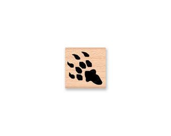 DINO CLAWS - wood mounted rubber stamp (mcrs 04-20)