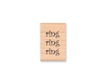 TELEPHONE STAMP SET of 2~ring, ring, ring ~hello? ~Rubber Stamps~Hello~ phone~Greetings~wood mounted rubber stamps (06-01 & 06-02)