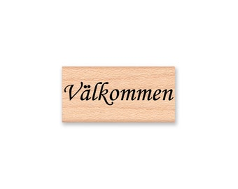 VALKOMMEN (Welcome) - Wood Mounted Rubber Stamp (mcrs 10-27)