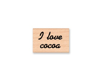 I LOVE COCOA - Wood Mounted Rubber Stamp (mcrs 10-03)
