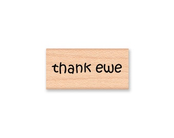 THANK EWE - Wood Mounted Rubber Stamp (mcrs 08-35)