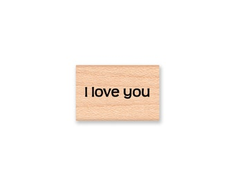 I LOVE YOU - Wood Mounted Rubber Stamp (mcrs 09-30)