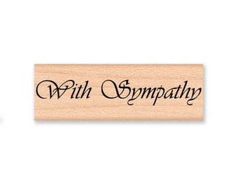 WITH SYMPATHY - Wood Mounted Rubber Stamp (mcrs 12-24)