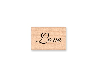 Love Stamp Wedding Decor Elegant Script Font Wedding Favors Thank You Notes Wedding Shower Decor wood mounted rubber stamp (13-)