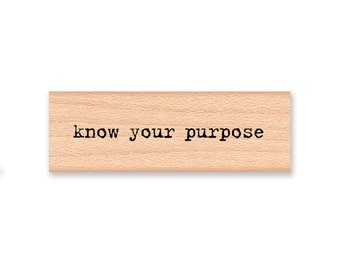 STAMP SET OF 2 - Know Your Purpose - Why ? - Wood Mounted Rubber Stamp (mcrs 13-09)