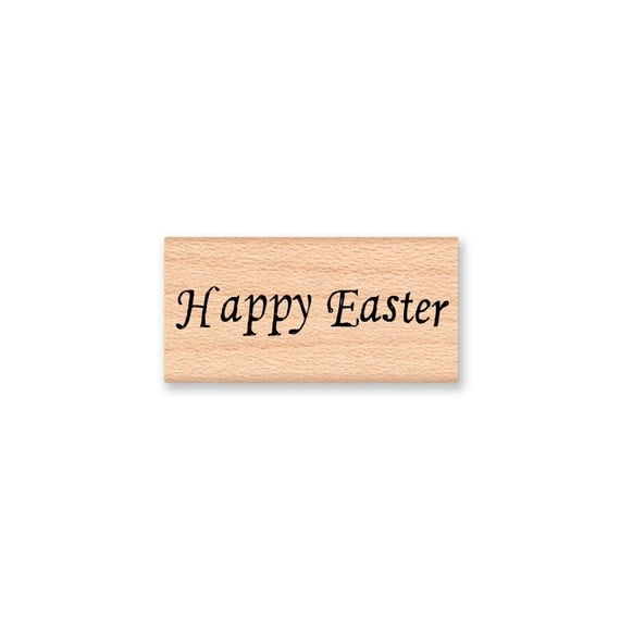HAPPY EASTER - Wood Mounted Rubber Stamp (mcrs 08-26)