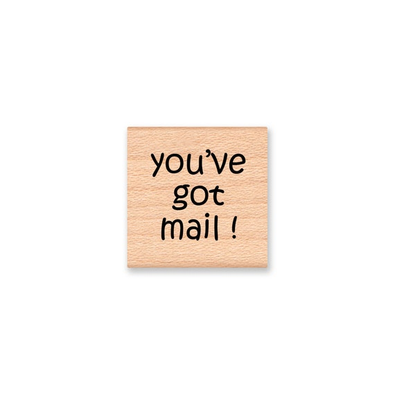 MAIL STAMP You've got mail postal stamp USPS mail box miss you please write letter writting   - Wood Mounted Rubber Stamp (08-15)