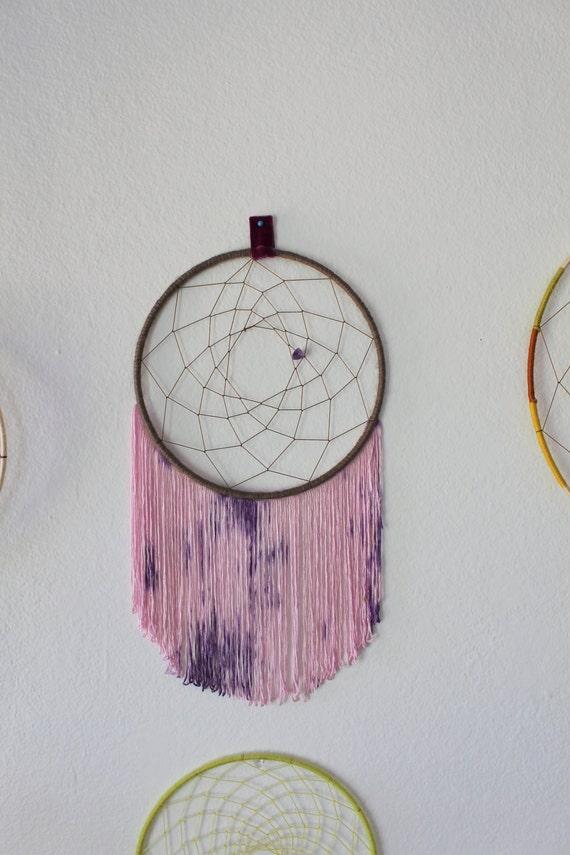 purple amethyst tie dye tassel dreamcatcher by aquariansoul. Black Bedroom Furniture Sets. Home Design Ideas