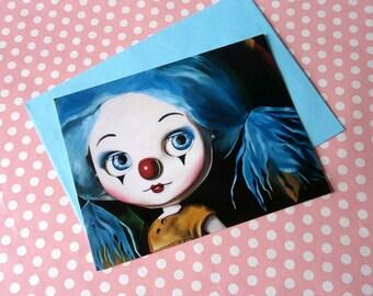 6 x Blythe Doll clown postcards w envelopes