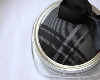 SALE Ready to Ship Satin Kilt Pincushion/Vanity Storage Jar