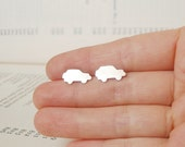 sterling silver mini car ear studs No.3 Land Rover, handmade in England