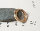narrow wedding band in 9ct yellow gold, simple stacking ring, handmade in England