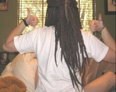 "20 Medium 12"" Alpaca Soft Hand Felted Wool Dread Extensions Natural Brown Black White Custom Dreadlock Dreads - Reserved for Memorie"