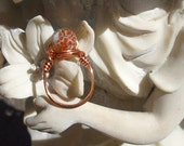 "Agate and  Copper Ring Size 7  ""Name that Spot"""