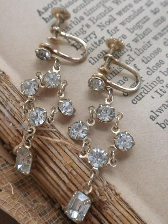 HALF OFF Vintage Chandelier Bling Earrings
