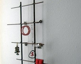 Rustic Metal Jewelry Display Wall Model - Short