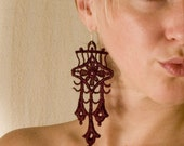 Lace earrings - Trident - Porto