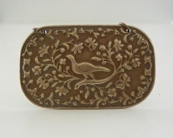 Vintage Brass - Brass Pendant - Peacock Pendant - Statement Pendant - Floral Pendant - DIY Necklace - Brass Stamping