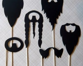 Photobooth Props. Photo Booth Props. Wedding Photos Beard Me - Set of Six Beards on a Stick