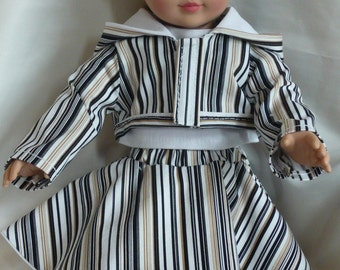 OOAK Stripped Hooded Jacket Ensemble