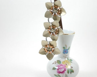 Steampunk Cascading Scale Flowers Hair Stick