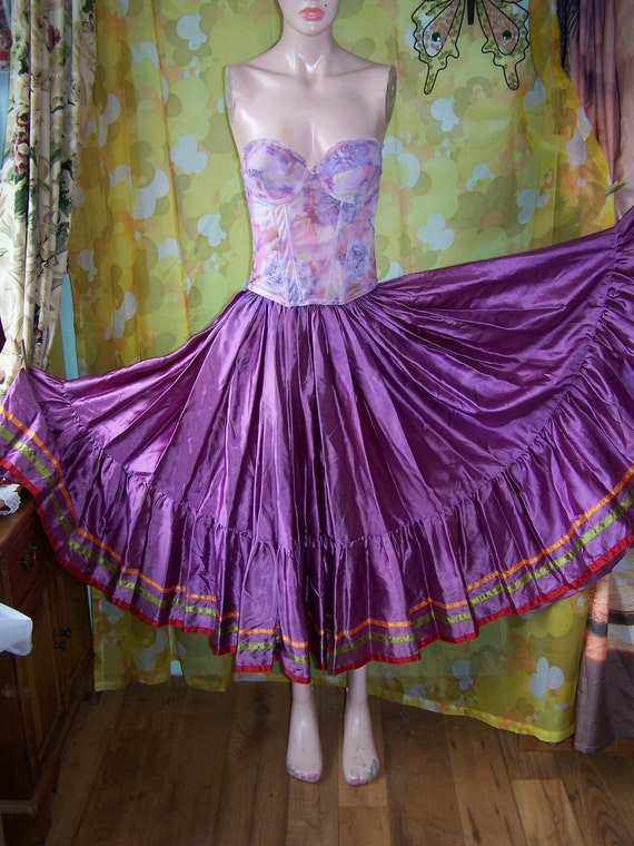 Circle Skirt Gypsy Full Dance TwirleR size M