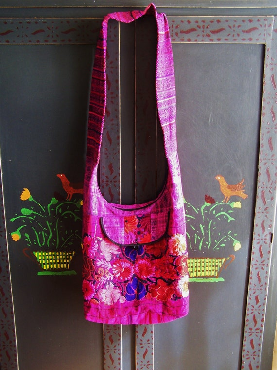 Cross Body Bag Guatemala Woven & Embroidered Beauty Lg