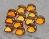 Two Lovely Round Citrine Cabochons - 4mm