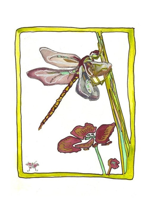 Dragonfly - limited edition print from original // Home Decor //13x19 or 8.5x11