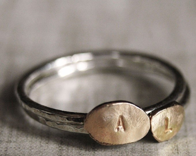 Personalized Gold-Filled Love Letter Ring