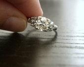 Vintage Edwardian Platinum Diamond Engagement Ring (Reserved for Liam)