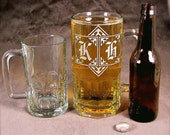 GIANT Beer Mug, 1 liter Beer Stein Monogrammed or Personalized Gift for Man
