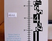 Growth Chart Vinyl Decal, Funky Numbers Design, Kids Bedroom Decor, Nursery Wall Art