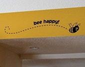 Bee Happy decal, fun vinyl sticker