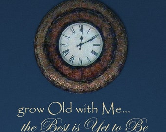 Grow Old With Me vinyl wall art decal, wedding, anniversary love sticker bedroom decal