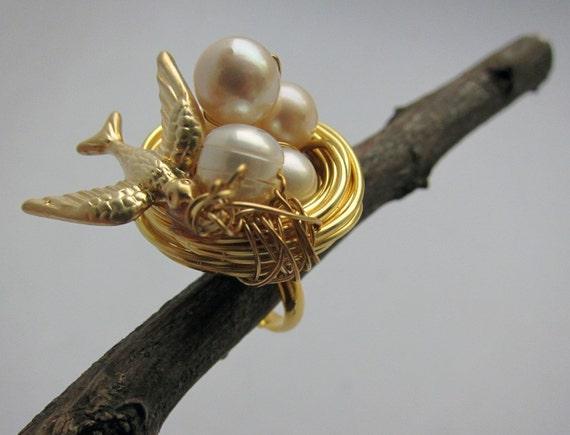 Reserved for PIERRA: Gold Nest Ring